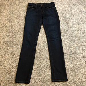 J Brand Mid Rise Rail Skinny Jeans